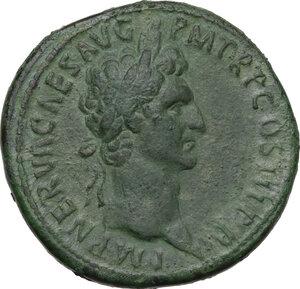 obverse: Nerva (96-98).. AE Sestertius, Rome mint, 97 AD