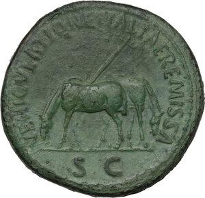 reverse: Nerva (96-98).. AE Sestertius, Rome mint, 97 AD
