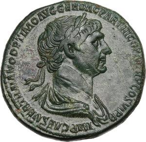 obverse: Trajan (98-117 AD).. AE Sestertius, Rome mint, 116-117 AD