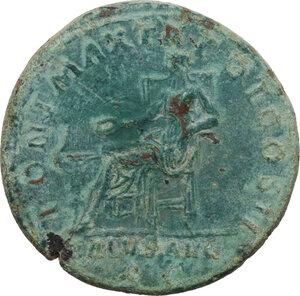 reverse: Hadrian (117-138).. AE Dupondius, 118 AD