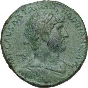 obverse: Hadrian (117-138).. AE Sestertius, 121 AD