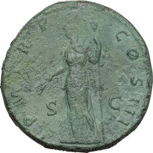 reverse: Hadrian (117-138).. AE Sestertius, 121 AD
