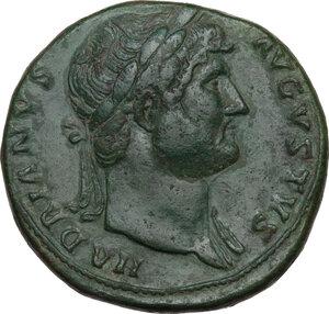 obverse: Hadrian (117-138).. AE Sestertius, 125-128