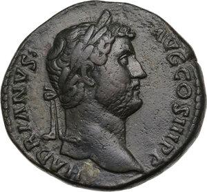 obverse: Hadrian (117-138).. AE Sestertius, Rome mint, 136 AD