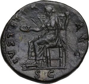 reverse: Hadrian (117-138).. AE Sestertius, Rome mint, 136 AD