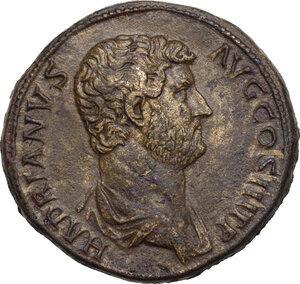 obverse: Hadrian (117-138)..  Æ Sestertius, Rome mint,134-138 AD