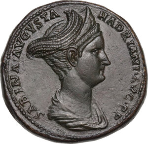 obverse: Sabina, wife of Hadrian (died 137 AD).. AE Sestertius, struck under Hadrian, c.128-134 AD
