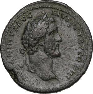 obverse: Antoninus Pius (138-161). AE Sestertius, 141-143 AD