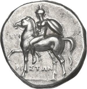 obverse: Southern Apulia, Tarentum. AR Nomos, c. 272-240 BC. Reduced standard