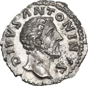 obverse: Antoninus Pius (Divus, after 161 AD).. AR Denarius, issued under Marcus Aurelius