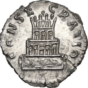 reverse: Antoninus Pius (Divus, after 161 AD).. AR Denarius, issued under Marcus Aurelius