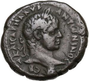obverse: Elagabalus (218-222 AD).. BI Tetradrachm, Alexandria mint, Egypt. Dated RY 3 (219/20 AD)