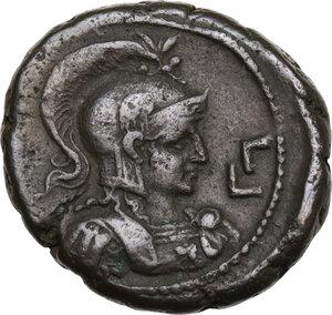 reverse: Elagabalus (218-222 AD).. BI Tetradrachm, Alexandria mint, Egypt. Dated RY 3 (219/20 AD)