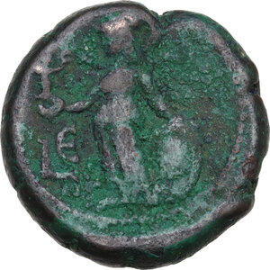 reverse: Annia Faustina, third wife of Elagabalus (Augusta 221 AD)..  BI Tetradrachm, Alexandria mint, Egypt. Dated RY 5 (221/2 AD)