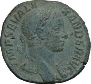 obverse: Severus Alexander (222-235).. AE Sestertius, 230 AD