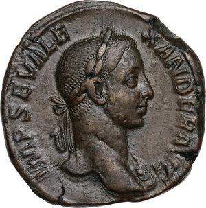 obverse: Severus Alexander (222-235 AD).. AE Sestertius, 222-231 AD