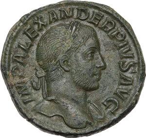 obverse: Severus Alexander (222-235 AD). AE Sestertius, 2