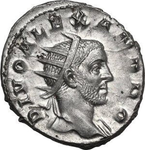 obverse: Severus Alexander (Divus, after 235 AD)..  AR Antoninianus, restored by Trajan Decius. Rome mint, 250-251 AD