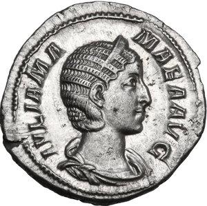 obverse: Julia Mamaea, mother of Severus Alexander (died 225 AD).. AR Denarius, 228 AD