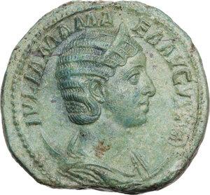 obverse: Julia Mamaea, mother of Severus Alexander (died 235 AD).. AE Dupondius, Rome mint, 228 AD