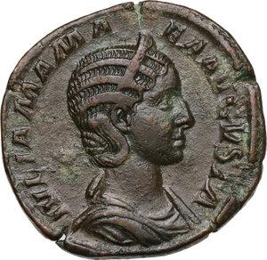 obverse: Julia Mamaea, mother of Severus Alexander (died 235 AD).. AE Sestertius, struck under Severus Alexander