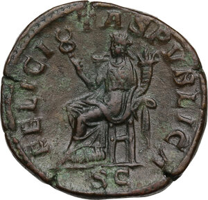 reverse: Julia Mamaea, mother of Severus Alexander (died 235 AD).. AE Sestertius, struck under Severus Alexander