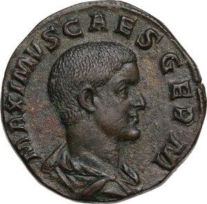 obverse: Maximus (Caesar 235-238).. AE Sestertius, Rome mint