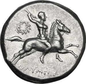 obverse: Southern Apulia, Tarentum. AR Nomos, Reduced standard, c. 240-228 BC