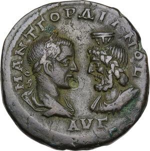 obverse: Gordian III (238-244 AD).. AE 28mm. Marcianopolis mint, Moesia Inferior. Menophilus  magistrate