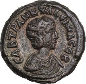 obverse: Tranquillina, wife of Gordian III (241-244).. BI Tetradrachm, Alexandria mint, Egypt. Dated  RY 6 (242/3 AD)