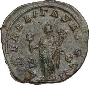 reverse: Philip I (244-249).. AE Sestertius, Rome mint