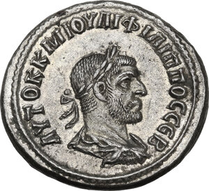 obverse: Philip I (244-249).. AR Tetradrachm. Antioch mint, Seleucis and Pieria, 249 AD