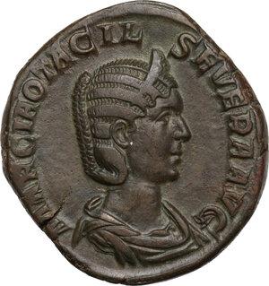obverse: Otacilia Severa, wife of Philip I (244-249).. AE Sestertius, struck under Philip I