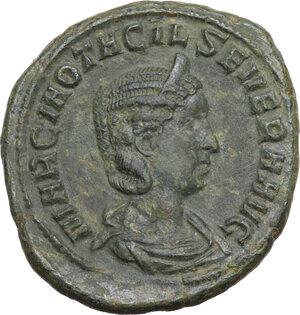 obverse: Otacilia Severa, wife of Philip I (244-249).. AE As, Rome mint, 249 AD