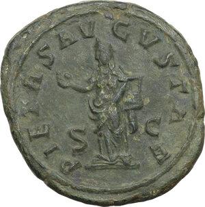 reverse: Otacilia Severa, wife of Philip I (244-249).. AE As, Rome mint, 249 AD