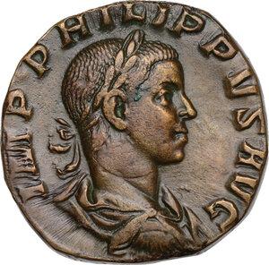 obverse: Philip II (247-249).. AE Sestertius, 246-249 AD