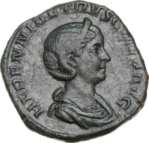 obverse: Etruscilla, wife of Trajan Decius (249-251).. AE Sestertius, Rome mint