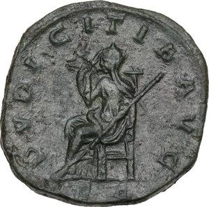 reverse: Etruscilla, wife of Trajan Decius (249-251).. AE Sestertius, Rome mint
