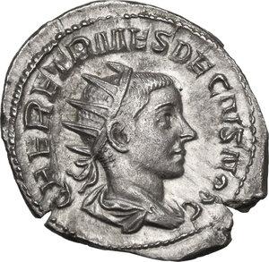 obverse: Herennius Etruscus as Caesar (249-251).. AR Antoninianus, Rome mint