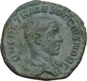 obverse: Herennius Etruscus as Caesar (250-251 AD).. AE Sestertius, Rome mint