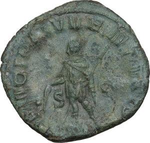reverse: Herennius Etruscus as Caesar (250-251 AD).. AE Sestertius, Rome mint