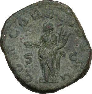 reverse: Volusian (251-253).. AE Sestertius, Rome mint