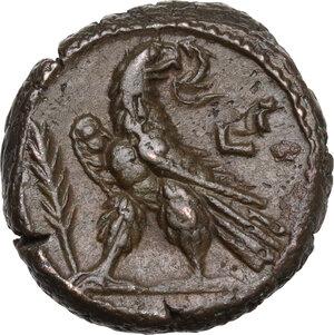 reverse: Salonina, wife of Gallienus (died 268 AD).. BI Tetradrachm, Alexandria mint, Egypt. Dated RY 13 of Valerian I and Gallienus (265-6 AD)