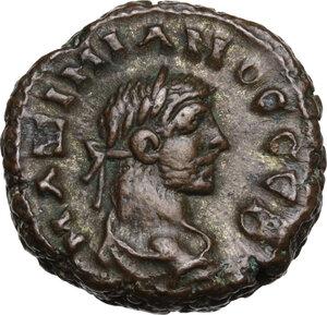 obverse: Maximian (286-310 AD).. BI Tetradrachm, Alexandria mint, Egypt. Dated RY 8 (292/3 AD)