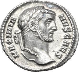 obverse: Galerius as Caesar (293-305).. AR Argenteus, Rome mint, c. 295-297 AD