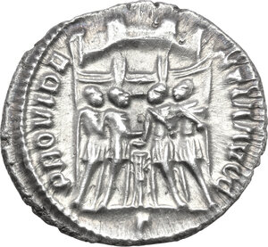 reverse: Galerius as Caesar (293-305).. AR Argenteus, Rome mint, c. 295-297 AD