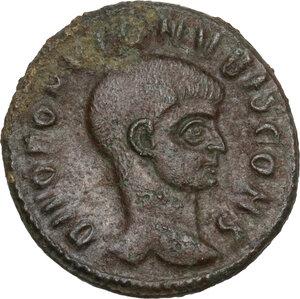 obverse: Divus Romulus (died 309 AD).. AE Half Follis, 309-312, Rome mint