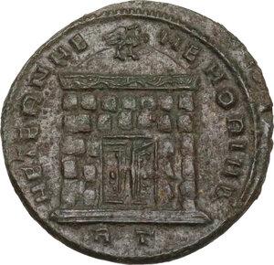 reverse: Divus Romulus (died 309 AD).. AE Half Follis, 309-312, Rome mint