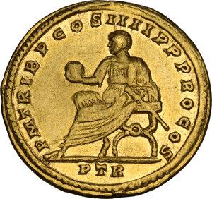 reverse: Constantine I (307-337).. AV Solidus, Treveri mint, 313-315 AD