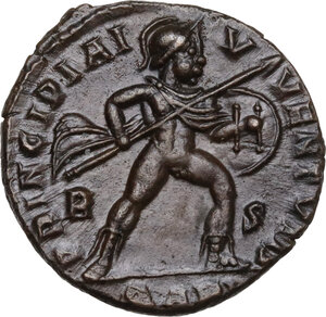 reverse: Crispus (Caesar, 317-326).. AE Follis, Arelate mint, 317-318 AD
